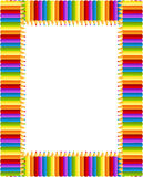 Frame colorido dos lápis ilustração stock