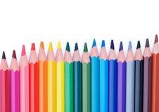 Frame colorido dos lápis Fotografia de Stock