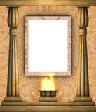 Frame and columns. Ancient columns and picture frame Royalty Free Stock Photo