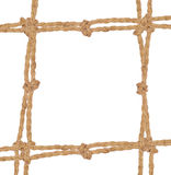 Frame composed of rope Stock Image