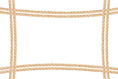 Frame composed of rope isolated on white Royalty Free Stock Photos