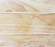 Frame composed of Rope on a Wooden Royalty Free Stock Photo