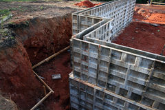 Frame for Concrete Basement Wa Stock Images