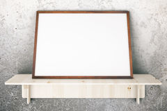 Frame on concrete Royalty Free Stock Images