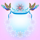 Frame for congratulation Stock Images