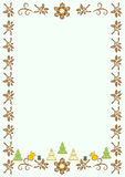 The frame for congratulations on Christmas background Royalty Free Stock Photo