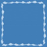 Frame consists of clouds. Vector illustration Royalty Free Stock Photography