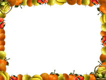 Frame that consists of fruit royalty free stock photos