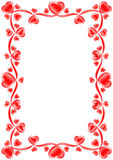 The frame consists of hearts Stock Photography