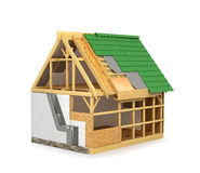 Frame construction home. Royalty Free Stock Images