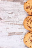 Frame of cookies or biscuit, copy space for text Stock Photo