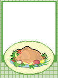 Frame with cooking turkey Royalty Free Stock Photo