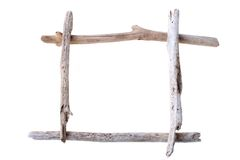 Drift wood frame Stock Photos