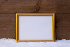 Frame With Copy Space On Snow Royalty Free Stock Image