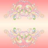 Frame cor-de-rosa abstrato Fotografia de Stock Royalty Free