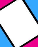 Frame cor-de-rosa azul de Digitas ilustração do vetor