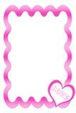 Frame cor-de-rosa com coração ilustração royalty free