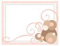 Frame cor-de-rosa com redemoinhos Fotografia de Stock Royalty Free