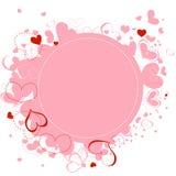 Frame cor-de-rosa dos corações Fotos de Stock