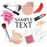 Frame cosmético Fotografia de Stock Royalty Free