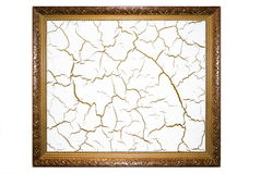 Frame and crack Royalty Free Stock Photos