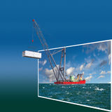 Frame with crane Stock Image