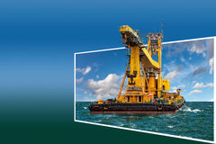 Frame with crane Royalty Free Stock Photo
