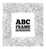 Frame created from the letters of different sizes Royalty Free Stock Photos