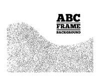 Frame created from the letters of different sizes Royalty Free Stock Photography