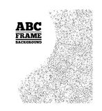 Frame created from the letters of different sizes Royalty Free Stock Photo