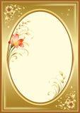 Frame creativo com elementos florais Fotos de Stock