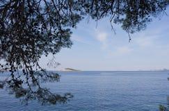 Frame Croatia do verão foto de stock royalty free