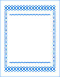 Frame for cross-stitch embroidery Blue colors Royalty Free Stock Photo