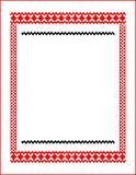 Frame for cross-stitch embroidery red colors Royalty Free Stock Photography