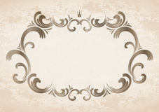 Frame with crown Royalty Free Stock Photography