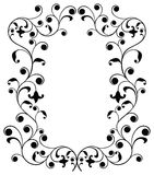 Frame with curls, border, vector Stock Photography