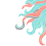 Frame from curls vector Royalty Free Stock Photography