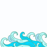 Frame from curls vector Royalty Free Stock Images