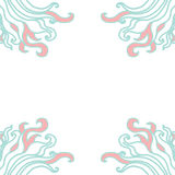 Frame from curls vector Stock Photography