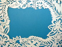 Frame cut from paper. Stock Image