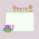 Frame with cute owl