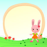 Frame with a cute rabbit. Vector frame with a cute rabbit Stock Image