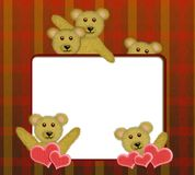 Frame with cute teddy bears Stock Image