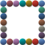 Frame from 3d colored round buttons. Vector EPS10 Royalty Free Stock Image