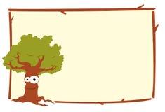 Frame da árvore de carvalho ilustração royalty free