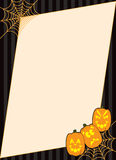 Frame da abóbora de Halloween Spiderweb Fotografia de Stock Royalty Free