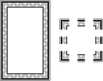 Frame da beira do estilo de Nouveau da arte Foto de Stock