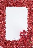 Frame da decoração do Natal Fotografia de Stock