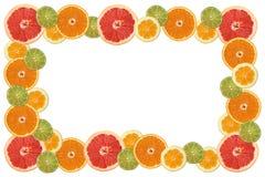 Frame da fatia do citrino Fotos de Stock Royalty Free