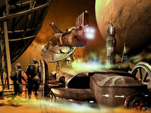 Frame da ficção científica Fotos de Stock Royalty Free